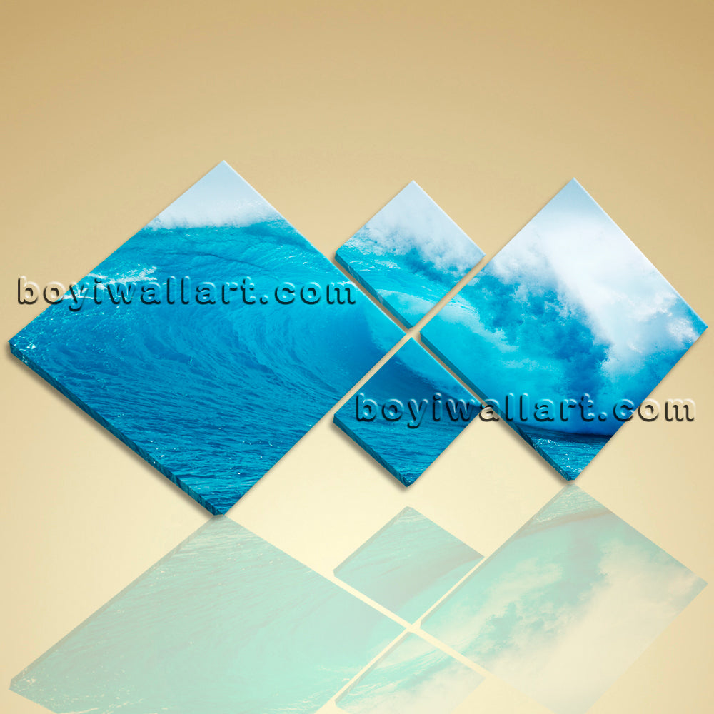 Large Contemporary Wall Art On Canvas HD Print Seascape Sea Wave Home Decor