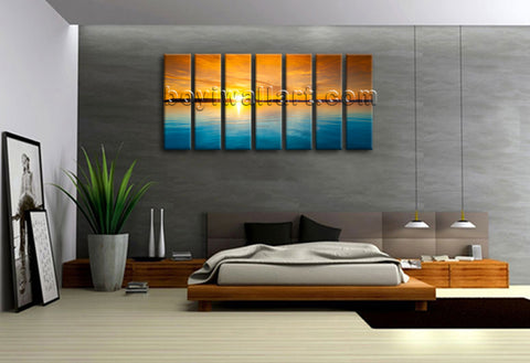 Large Sunset Glow Landscape Wholesale Print On Canvas Contemporary Wall Art