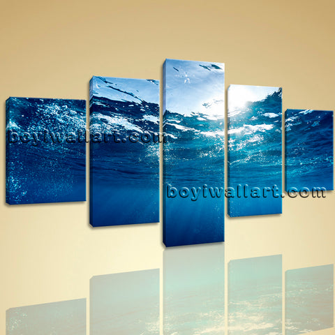 Modern Abstract Wall Art Seascape Sea Wave Picture HD Print for Living Room
