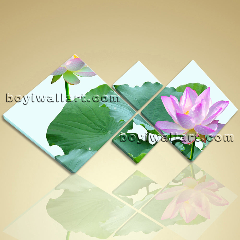 Large Feng Shui Zen Art Water Lily Flower Abstract Floral Painting Print Canvas