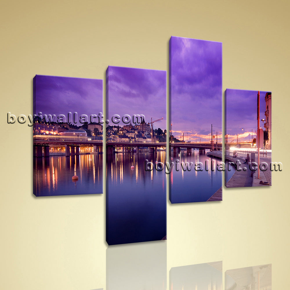 Large Canvas Wall Art Print Painting Living Room 4 Pieces
