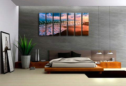 Contemporary Seascape Painting HD Print on Canvas Wall Art Beach Decorative