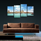 Large Cityscape HD Print on Canvas Wall Art Decorative Living Room Mural Framed