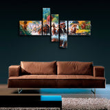 Contemporary Abstract Landscape Horse Painting Print Canvas Wall Art Home Decor