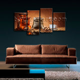 Large Contemporary Canvas Wall Art Print Coffee Restaurant Mural Decor Framed