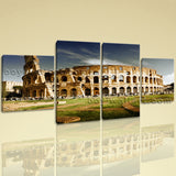 Large Architecture Picture Historic Wall Art Dining Room 4 Panels Giclee print