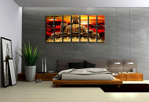Large Abstract Feng Shui Zen Wall Art Print On Canvas Buddha Picture Home Decor