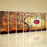 Large Abstract Floral Painting Tree Feng Shui Wall Art Print Canvas Contemporary