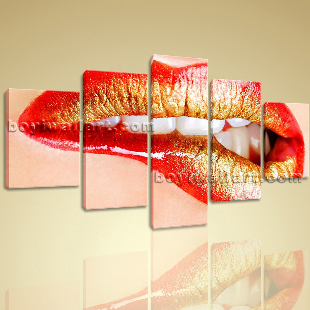 Large Contemporary Canvas Wall Art Decorative Mural Hotel Decor Lip Sexy