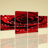Large Floral Wall Art Rose Flower Hd Print Painting Dining Room 4 Pieces Giclee