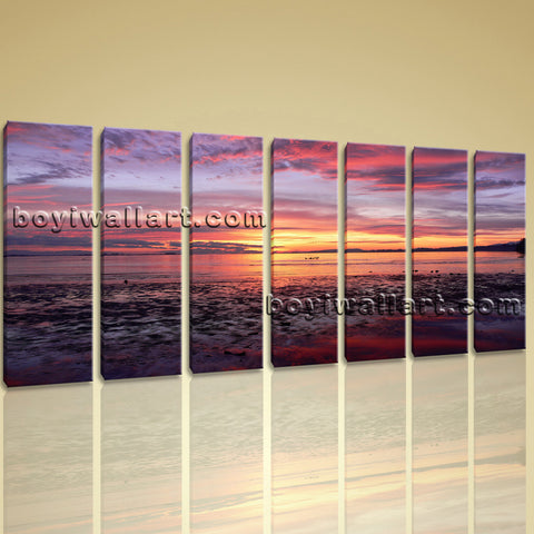 X Large Wall Art Prints On Canvas Contemporary Seascape Hd Painting Ocean Beach