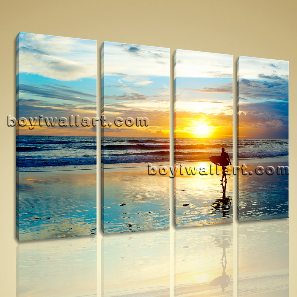 Large Canvas Prints Wall Art Decorative 4 Panels Landscape Painting ...