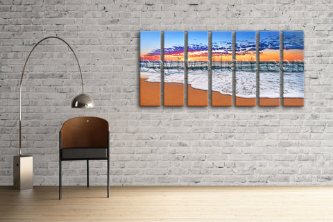 Extra Large Hd Print Seascape Beach Painting Modern Wall Art Abstract On Canvas