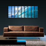 Super Large Hd Canvas Prints Framed Wall Art Contemporary Home Decor Sea Waves