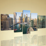 Beautiful Cityscape Of Dubai Contemporary Wall Art Canvas Print Ready To Hang