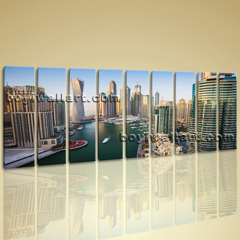Oversized Print Cityscape Dubai Picture Modern Canvas Wall Art Large Home Decor