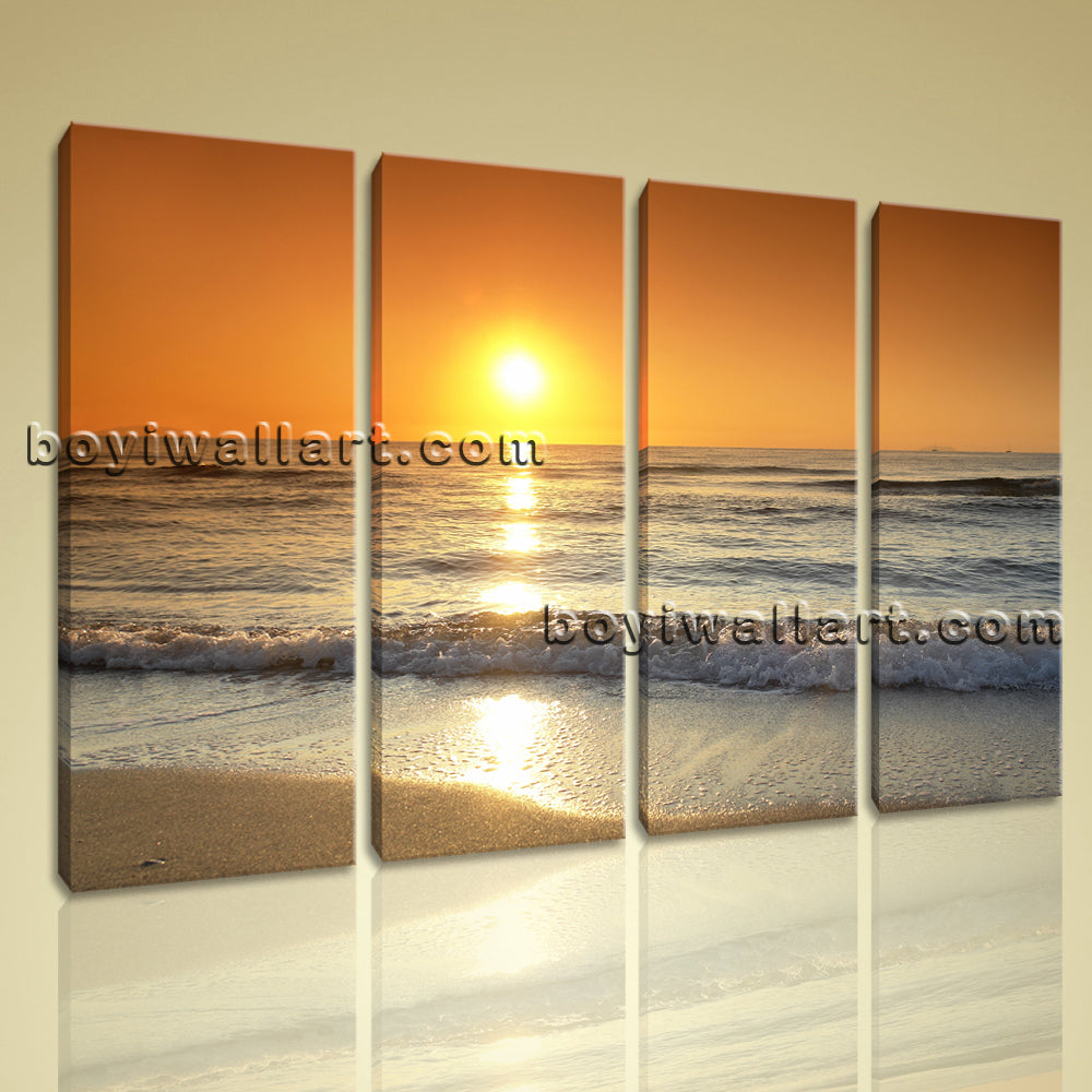 Large Canvas Print Landscape Sunset Glow Contemporary Wall Art Ready To Hang