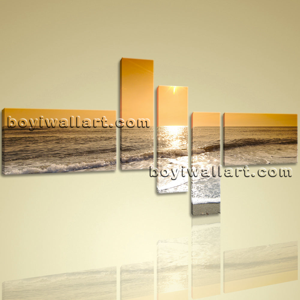 Big Canvas Wall Art Prints Landscape Contemporary Seascape Sunset ...