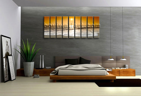 Great Big Large Wall Art Canvas Print Contemporary Home Decor Sunset Glow Framed