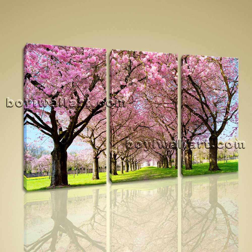 3 Panel Modern Wall Art Tree Landscape Canvas Painting Picture Ready To Hang