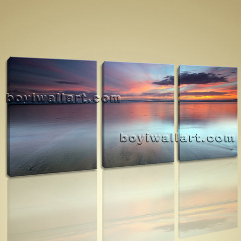 Stretched Canvas Print Hd Landscape Sunset Glow Contemporary Wall Art Home Decor