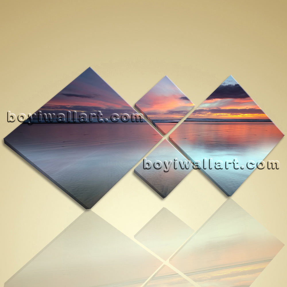 Large Canvas Print Landscape Sunset Contemporary Wall Art Stretched Home Decor