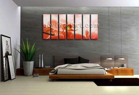 Extra Large Abstract Feng Shui Print On Canvas Wall Art Orchid Flower Painting