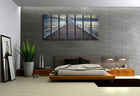 X Large Canvas Prints Sunset Landscape Contemporary Wall Art Beach Huge Framed