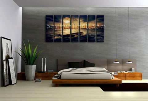 Oversized Large Hd Canvas Print Wall Art Painting Picture Moon Sky Landscape