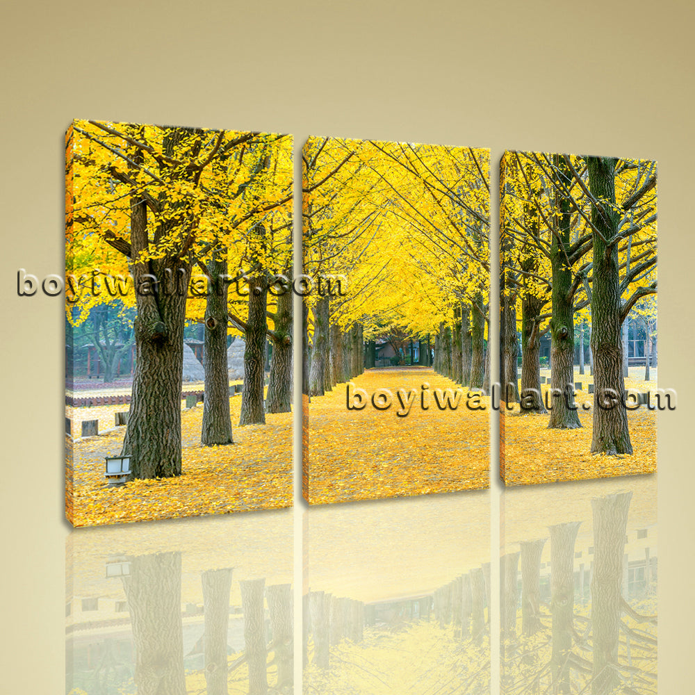 Large Autumn Tree Park Landscapes Tree Canvas Wall Art Print Ready To Hang