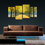 Large Autumn Tree Park Landscapes Treble Canvas Wall Art Picture Print Framed