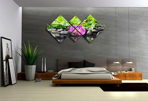Large Contemporary Abstract Painting Canvas Print Feng Shui Zen Wall Art Framed