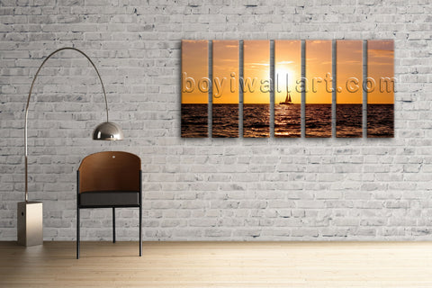 Huge Canvas Hd Print Contemporary Wall Art Sunset Landscape Framed Home Decor