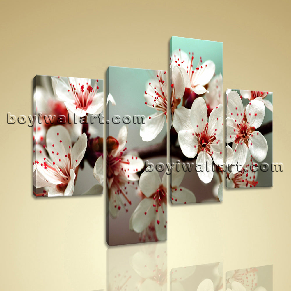 Large Floral Wall Art Egg Flower Painting Photography Living Room 4 Panels print
