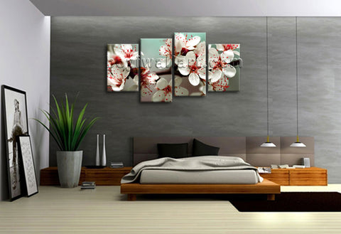 Large Print Floral Wall Art Decor Painting Canvas Modern Abstract Flowers Framed