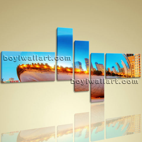 X Large Modern Print Cityscape Picture Painting Office Wall Decor Art Canvas