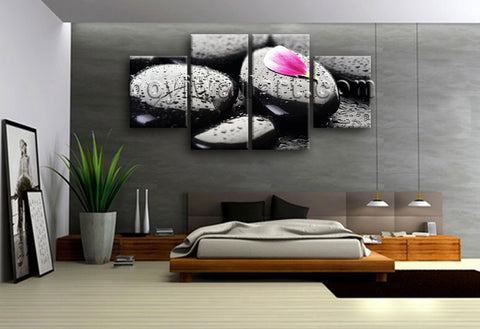 Large Feng Shui Painting Zen Art Wall Decor Dining Room Four Pieces Canvas Print