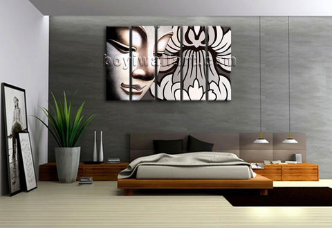 Large Stretched Canvas Print Comtemporary Wall Art Feng Shui Buddha Home Decor