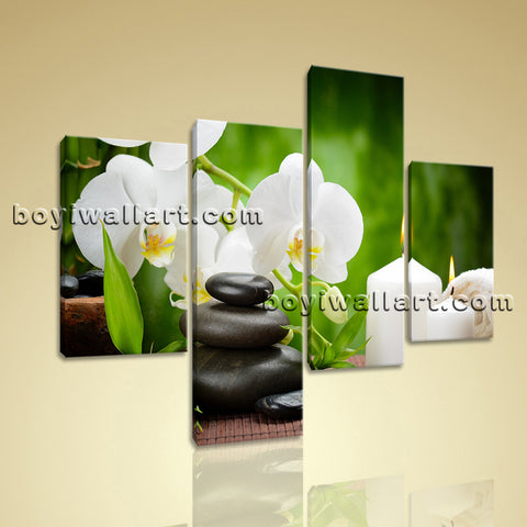 Large Feng Shui Painting Zen Art Wall Decor On Canvas Living Room 4 Panels print