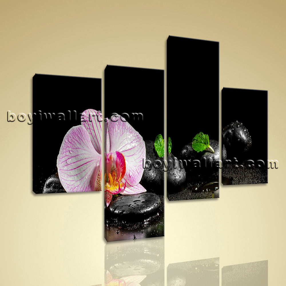 Large Feng Shui Print Zen Art Wall Painting Living Room Tetraptych Panels Giclee
