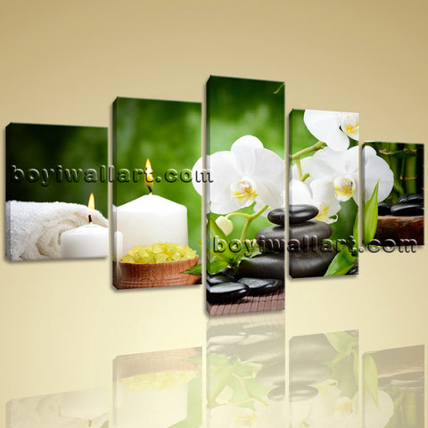 Large Canvas Prints Feng Shui Zen Wall Art Contemporary Orchid Flower Home Decor
