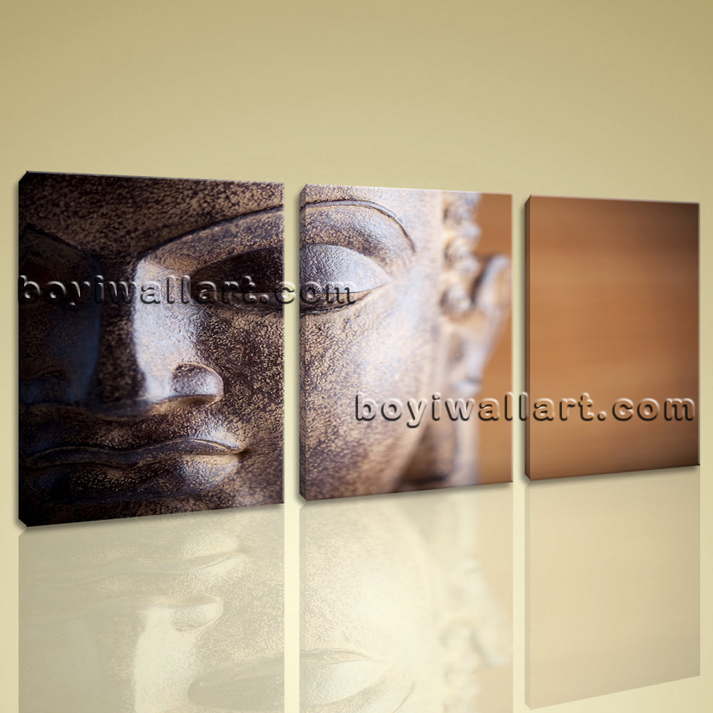 Large Canvas Prints Fengshui Zen Art Home Wall Decor Contemporary Buddha Head
