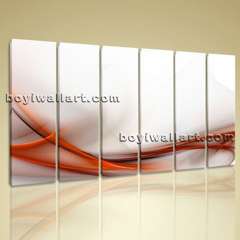 Xxl Large Modern Abstract Wall Art Prints On Canvas Living Room Home Decor 6 Pcs