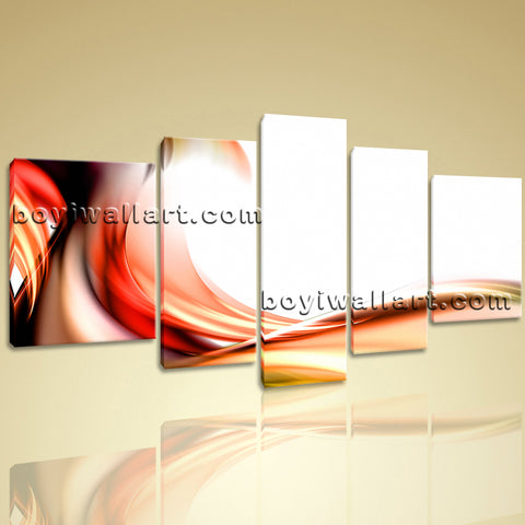Xxl Large Modern Abstract Wall Art Prints On Canvas Living Room Home Decor 5 Pcs