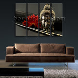 Large Feng Shui Zen Contemporary Wall Art Buddha Head Home Decor Giclee Print