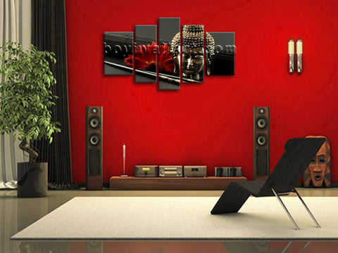 Xxl Large Feng Shui Zen Contemporary Wall Art Buddha Home Decor Print Canvas