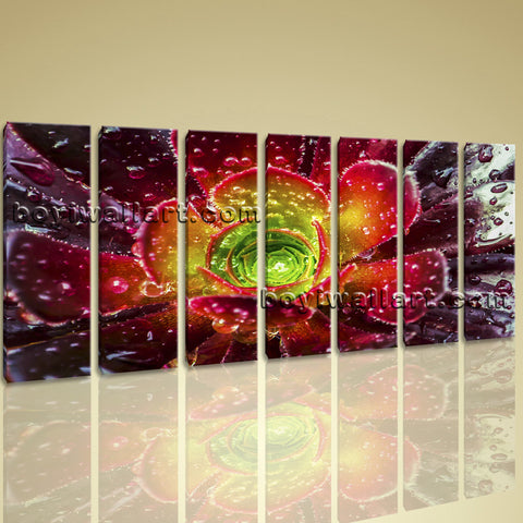 Xxl Large Contemporary Abstract Floral Print Wall Art Canvas Flower Home Decor