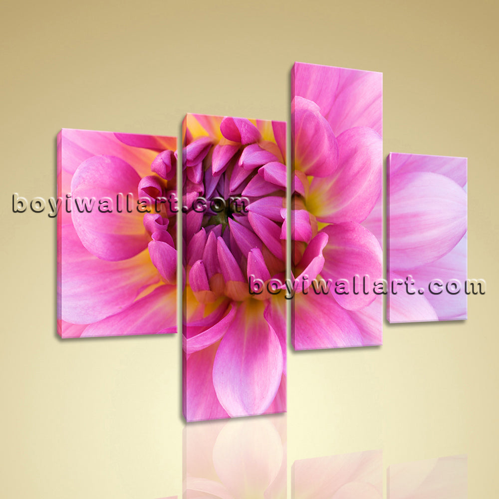 Large Floral Picture Flower Print Canvas Art Living Room Four Pieces