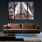 New York Nasdaq Square Large Wall Art Print On Canvas Home Decor Cityscape