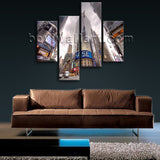 Large Cityscape Picture New York Canvas Art Wall Living Room 4 Pieces Print